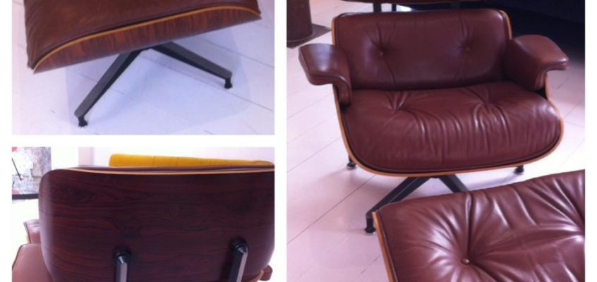 Eames longue chair & ottoman, 50's
