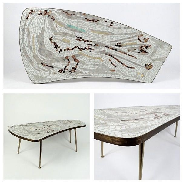 Mosaic coffee table, 50's