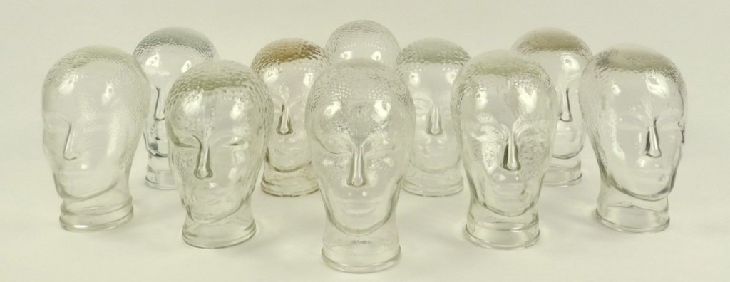 Glass Vintage Heads, 70's