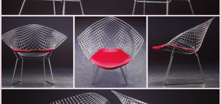 Diamond Lounge chair by Harry Bertoia, 1950.