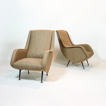 Sillones italianos estilo Marco Zanuso, años 50